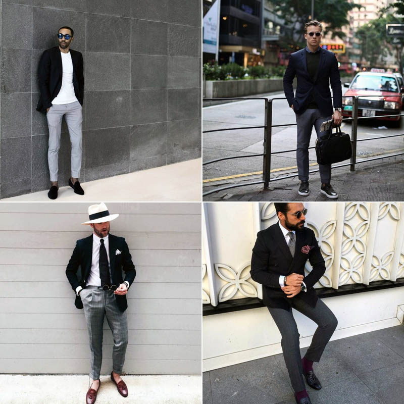 Black Blazer with Grey Pants