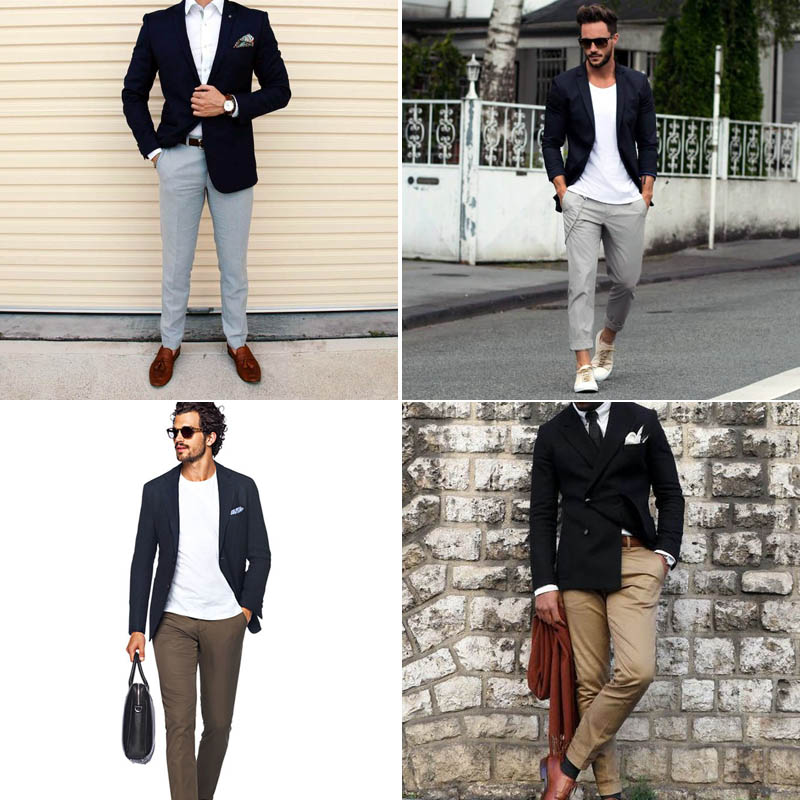 Black Blazer with Khaki Pants